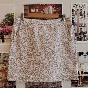 Sandro White Leopard Print Mini Skirt